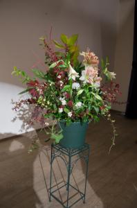 De bloemen ware opgemaakt door Els van Roosmalen