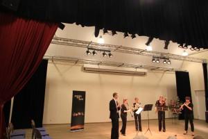 """het Amsterdam Wind Quintet speelde op zondag 8 maart jl. hun programma """"Bohemen voor ons publiek in Oostvoorne"""