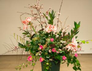 Aeolian Ensemble 19 januari 2014 Het bloemstuk was opgemaakt door Els van Roosmalen