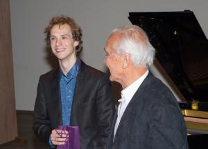 pianist Tobias Borsboom in gesprek met voorzitter Jaap Kruisman